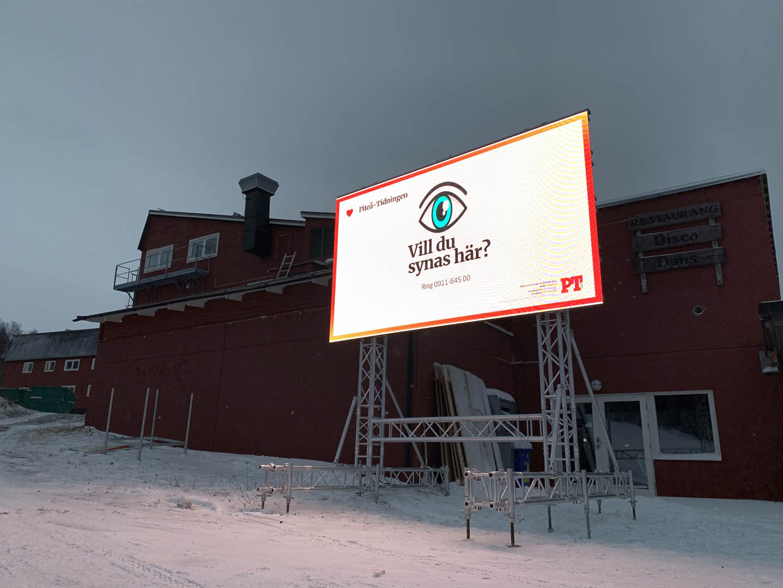 Lets Display Reklamskärm i Hemavan-Tärnaby