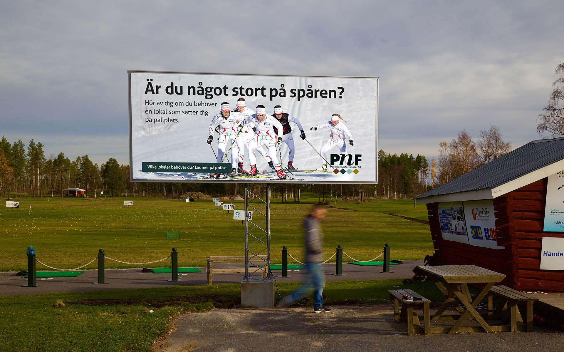LED-skärm på Piteå Golfklubb
