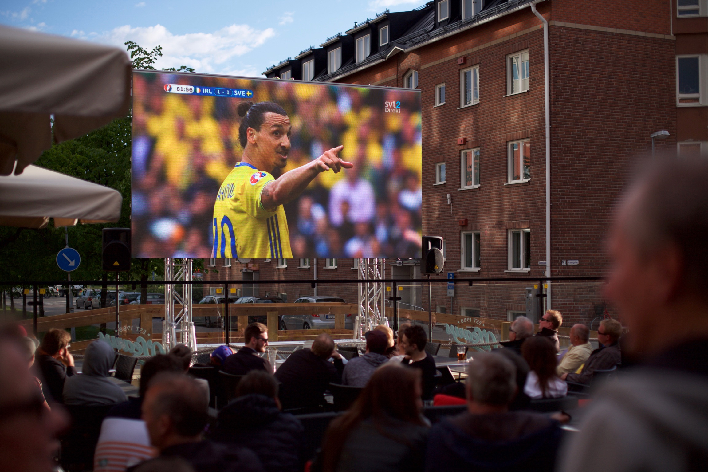 Lets Display LED Storbildsskärm visar Fotbolls-EM